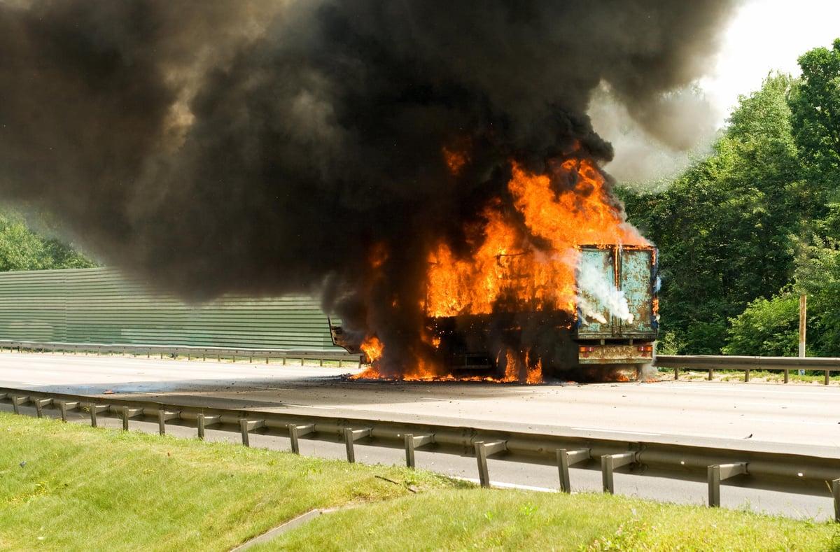 Trailer On Fire